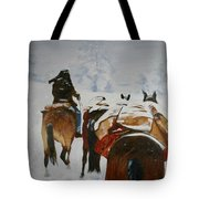 snow storm in the Rockies Tote Bag