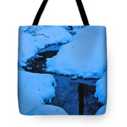 Snow Stream Tote Bag