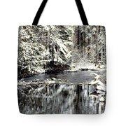 Snow Stream Tote Bag