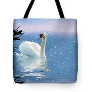 Snow Swan Swim Tote Bag