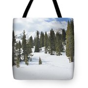 Snow Trail Tote Bag