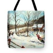 Snowball Battle Tote Bag