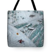 Snowbird Steeps Tote Bag by Michael Cuozzo