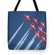 Snowbirds In Flight Tote Bag