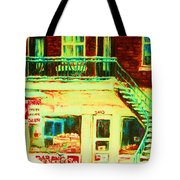 Snowcovered Steps Tote Bag