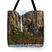 Snowfall Bridalveil Falls Tote Bag