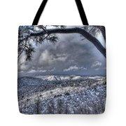Snowfall Covers Northern Arizona For Christmas Tote Bag