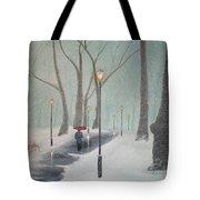 Snowfall In The Park Tote Bag