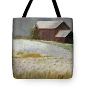 Snowfall In The Valley Tote Bag
