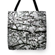 Snowfall On Branches Tote Bag