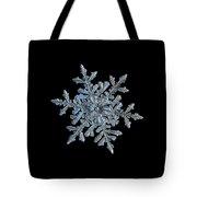 Snowflake 2018-02-21 N1 Black Tote Bag by Alexey Kljatov