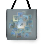 Snowflake Collage - Bright Crystals 2012-2014 Tote Bag by Alexey Kljatov