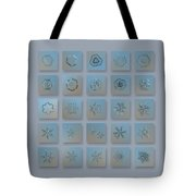 Snowflake Collage - Season 2013 Bright Crystals Tote Bag