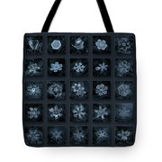 Snowflake Collage - Season 2013 Dark Crystals Tote Bag