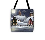 Snowflake Cove Tote Bag