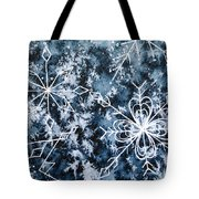 Snowflake Greetings Tote Bag