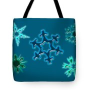 Snowflake Pattern Tote Bag