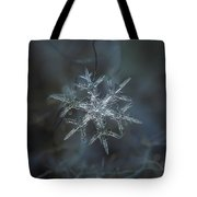 Snowflake Photo - Rigel Tote Bag by Alexey Kljatov