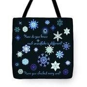 Snowflakes 2 Tote Bag