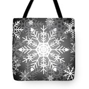 Snowflakes Black And White Tote Bag