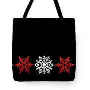 Snowflakes In A Row Tote Bag