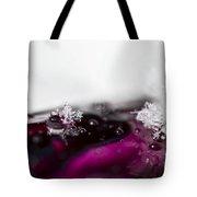 Snowflakes On Magenta Tote Bag