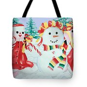 Snowgirls With Serape Scarf Tote Bag