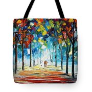 Snowing Alley Tote Bag