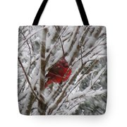 Snowing Tote Bag