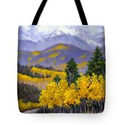 Snowing In The Mountains Tote Bag