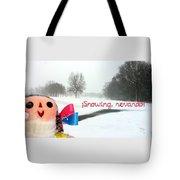 Snowing Nevando Tote Bag