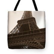 Snowing On The Eiffel Tower Tote Bag