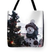 Snowman And Tree Pa Tote Bag