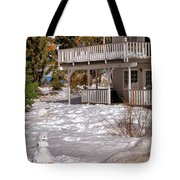 Snowman Big Bear California Tote Bag