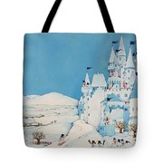 Snowman Castle Tote Bag by Christian Kaempf