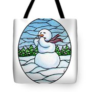 Snowman Flutist Tote Bag