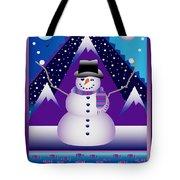 Snowman Juggler Tote Bag