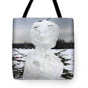 Snowman On Epsom Downs Surrey Uk Tote Bag