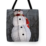 Snowman On The Roof Tote Bag