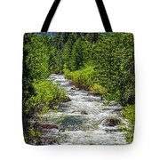 Snowmelt On The Carson Tote Bag