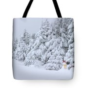 Snowmen In France Tote Bag