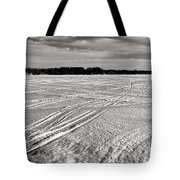 Snowmobile Tracks On China Lake Tote Bag