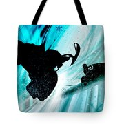 Snowmobiling On Icy Trails Tote Bag