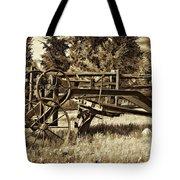 Snowplow Sepia Tote Bag