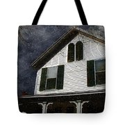 Snowstorm In From The Sound Tote Bag