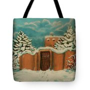 Snowstorm In Santa Fe Tote Bag