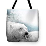 Snowstorm Kiss Tote Bag