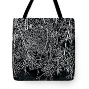 Snowy Abstract Tote Bag