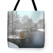 Chilled Scenery Around Frozen Canals Tote Bag