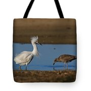 Snowy And The Gull Tote Bag